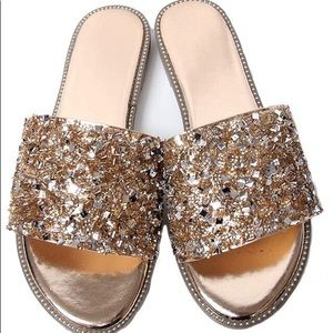 5ae947d5423165 Shoes -   PRICE IS FIRM Rose gold rhinestone accent sandal
